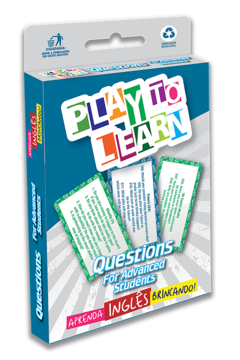 PLAY TO LEARN - QUESTIONS FOR ADVANCED STUDENTS - JOGO DE CARTAS