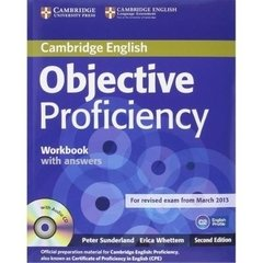 OBJECTIVE PROFICIENCY - WORKBOOK WITH ANSWERS WITH AUDIO CD - SECOND EDITIO - loja online