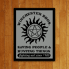 PLACA SUPERNATURAL WINCHESTER BROS.