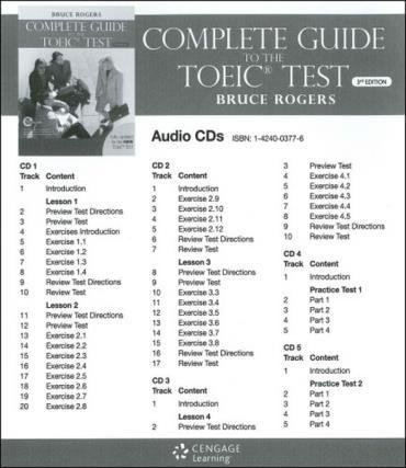 COMPLETE GUIDE TO THE TOEIC TEST - AUDIO CD 5 - THIRD EDITION - comprar online