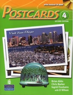 POSTCARDS 4 - STUDENT'S BOOK WITH SUPER CD-ROM - SECOND EDITION