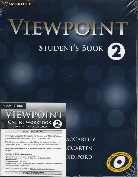VIEWPOINT 2 - STUDENT'S BOOK AND ONLINE WORKBOOK ACTIVATION CODE CARD