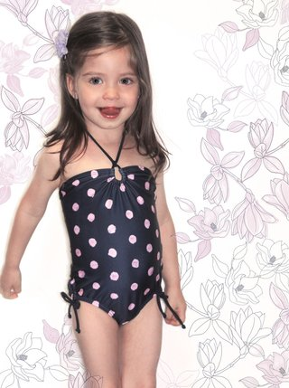 STRAPLESS POLKADOTS ONE PIECE