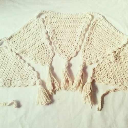 Guirnalda Banderines Tejidos Crochet Decoración Infantil Córdoba Vende