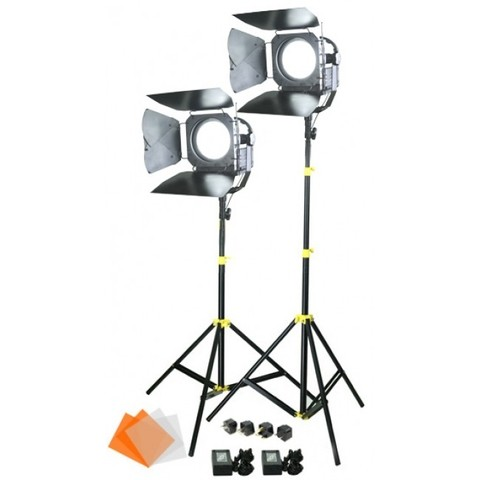 Kit de 2 Lámparas Camtree SUN 6 LED Fresnel Lights