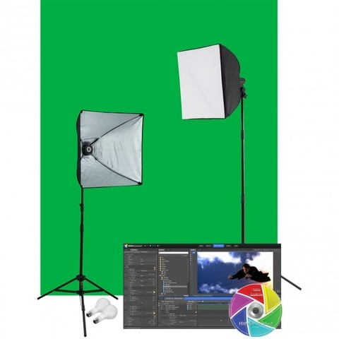 Kit de 2 Lámparas Westcott Illusion uLite con Tela Chroma