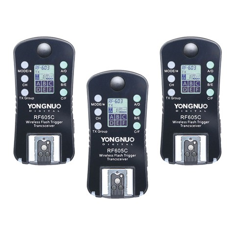 Kit de 3 Disparadores de Flash Yongnuo RF605