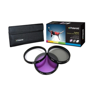 Kit de 3 Filtros Polaroid 67mm (UV, Circular Polarizado y Florescent)