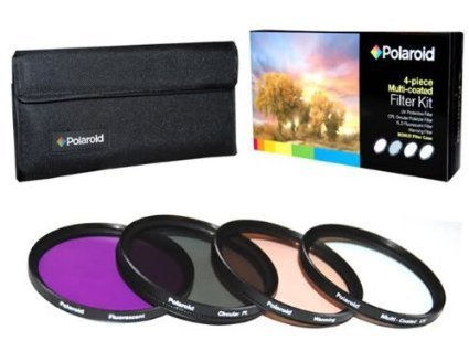Kit de 4 Filtros Polaroid 55mm (UV,CPL,FLD y Warming) PL4FIL55