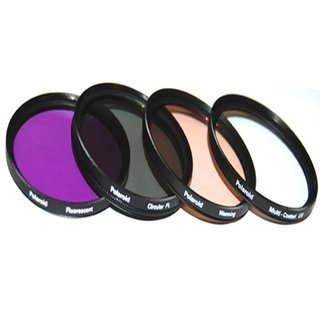 Kit de 4 Filtros Polaroid 72mm (UV,CPL,FLD y Warming) PL4FIL72