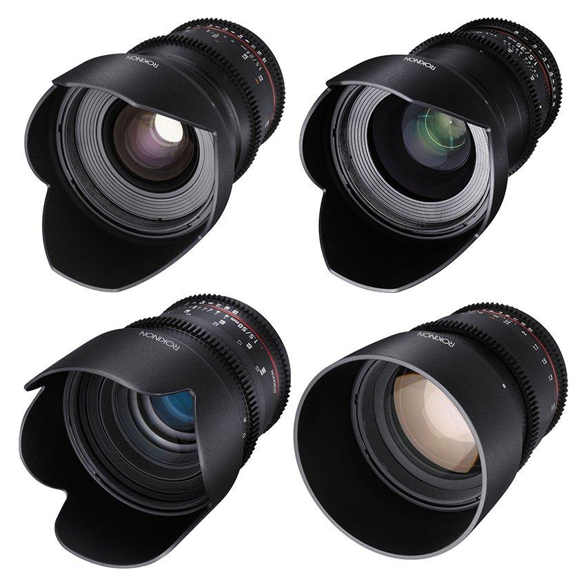 Kit de 4 Lentes Rokinon T1.5 Cine DS Lens Montura Canon (24mm, 35mm ...