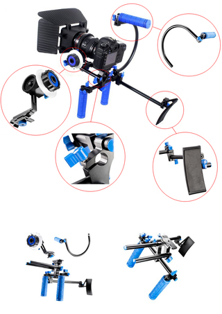 Soporte Kit DSLR BLUE RL-00 incluye DSLR, Matte Box y Follow Focus F1 - Videostaff México