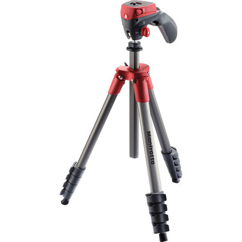 Tripié Manfrotto MKCOMPACTACN-RD Rojo