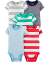 Pack 5 Bodys Rayas Carters