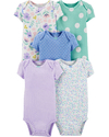 Pack 5 Bodys Estampados  Carters