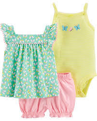 Set 3 piezas Body, Remera y Short Mariposa