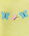 Set 3 piezas Body, Remera y Short Mariposa en internet