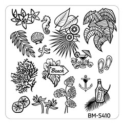 Bundle Monster Nail Art Stamping Plates- BM-S410