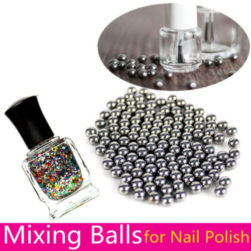 20pc Nail Polish Mixing Balls Stainless Steel 5mm