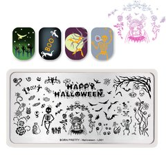 Nail Art Stamping BORN PRETTY Halloween BP-L001