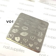 Clear Jelly - Layered Stamping Plates - CJS V-01