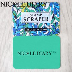 NICOLE DIARY Leaf Mini Cards Scraper 5.5 x 4cm Nail Stamp Scrapers