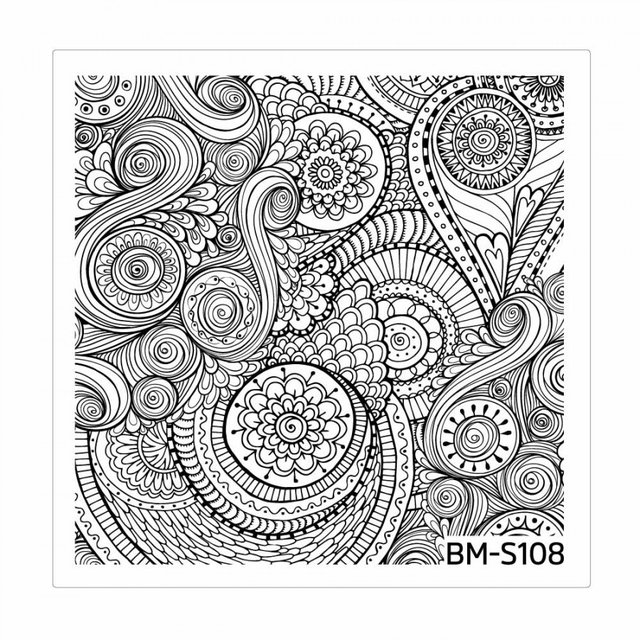 Bundle Monster Nail Art Stamping Plates- BM-S108