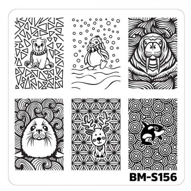 Bundle Monster Nail Art Stamping Plates- BM-S156
