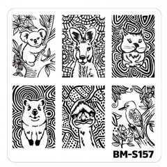 Bundle Monster Nail Art Stamping Plates- BM-S157