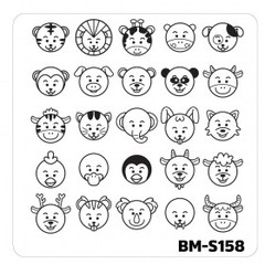 Bundle Monster Nail Art Stamping Plates- BM-S158