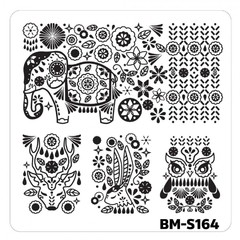 Bundle Monster Nail Art Stamping Plates- BM-S164