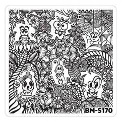 Bundle Monster Nail Art Stamping Plates- BM-S170