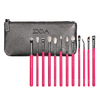 Zoeva Rose Pink Elements Complete eye set - 12 Brushes + Clutch