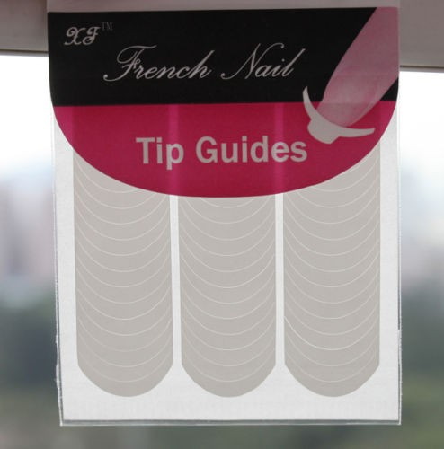 New French Manicure Tip Guides Strip Nail Art Toes