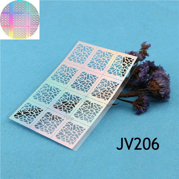 Irregular Triangle Pattern Nail Vinyls Nail Art Manicure Stencil Stickers JV206