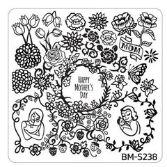 Bundle Monster Nail Art Stamping Plates- BM-S238
