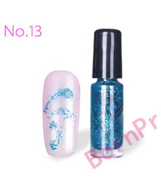 glitter-shimmer-acrylic-nail-liner-polish-varnish-brush-color 13 UV (para cabina)