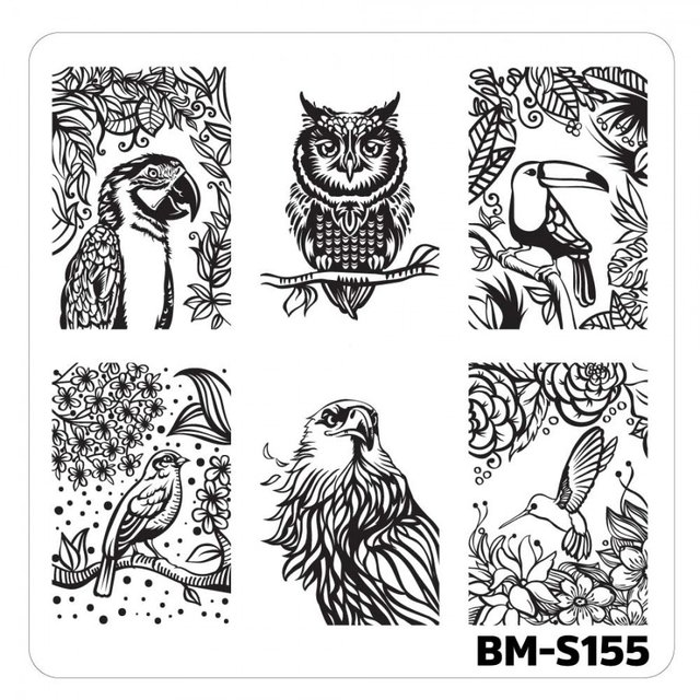 Bundle Monster Nail Art Stamping Plates- BM-S155