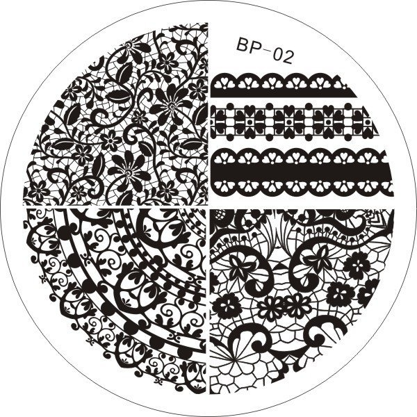 Nail Art Stamp BORN PRETTY BP02