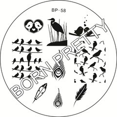 Nail Art Stamp BORN PRETTY BP58