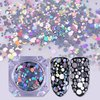 Holo Nail Glitter Sequins Flakes Laser Nail Art Mixed Size Tips