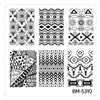Bundle Monster Nail Art Stamping Plates- BM-S310