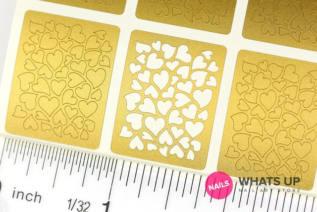 Heart Stencils & Stickers - Set de 12
