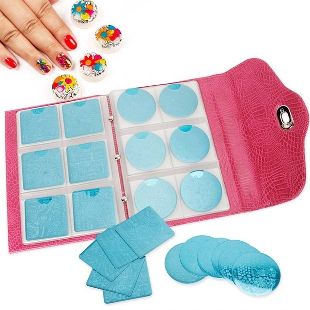 Bundle Monster - Peony Pink Nail Plate and Accessories Organizer 168 Slots - comprar online