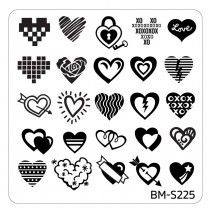 Bundle Monster Nail Art Stamping Plates- BM-S225