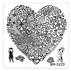 Bundle Monster Nail Art Stamping Plates- BM-S223