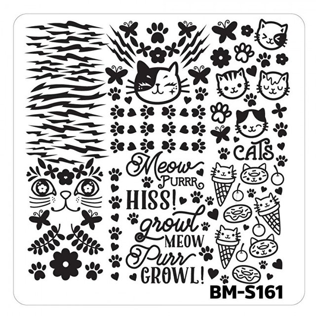 Bundle Monster Nail Art Stamping Plates- BM-S161