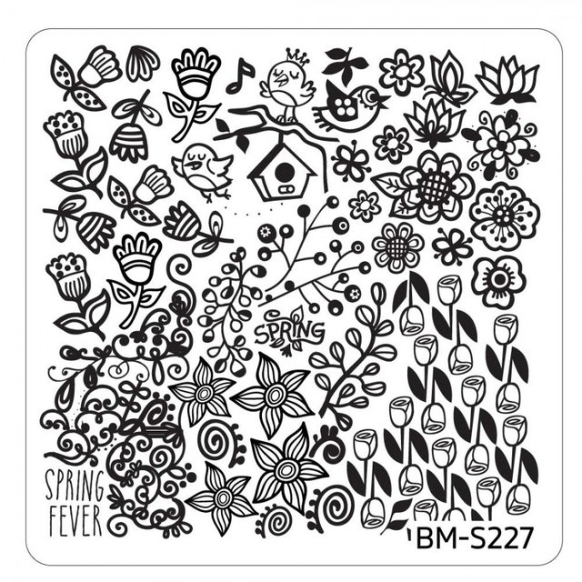 Bundle Monster Nail Art Stamping Plates- BM-S227