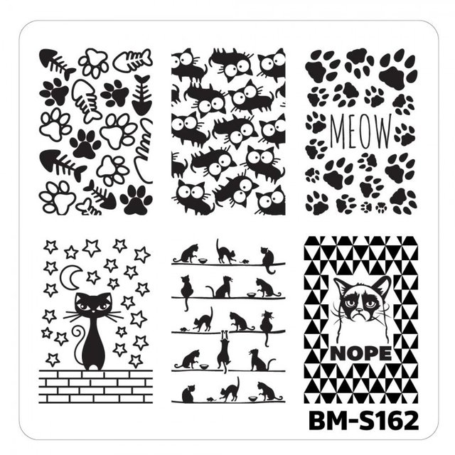 Bundle Monster Nail Art Stamping Plates- BM-S162
