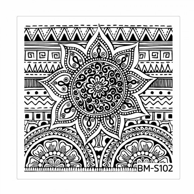 Bundle Monster Nail Art Stamping Plates- BM-S102